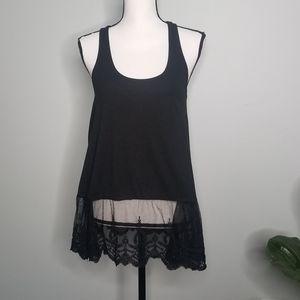 Umgee black lace tank top shirt